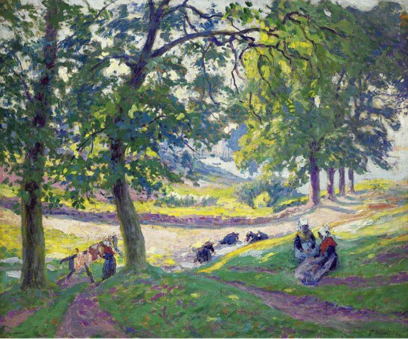 Laundresses in Bretagne | Paul Madeline | oil painting