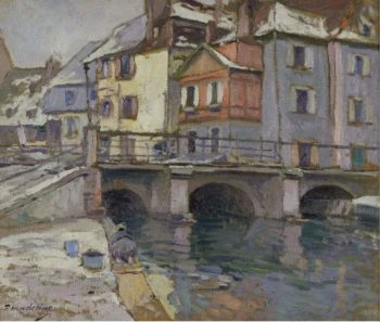 Old Port at Colmar | Paul Madeline | oil painting