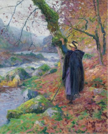 Peasant Girl at the Riverbank | Paul Madeline | oil painting