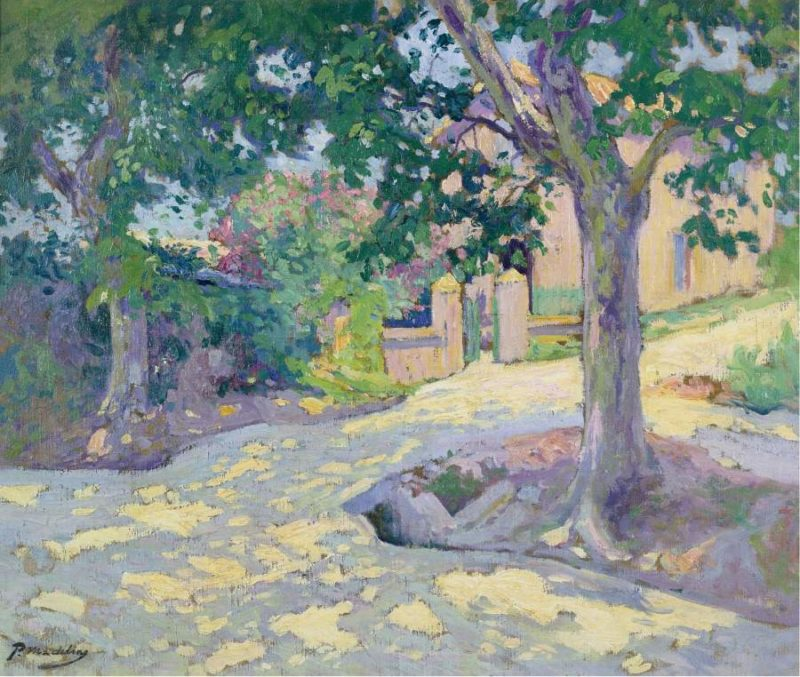 Street with Trees | Paul Madeline | oil painting