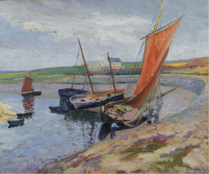 The Boat on the Seabank | Paul Madeline | oil painting