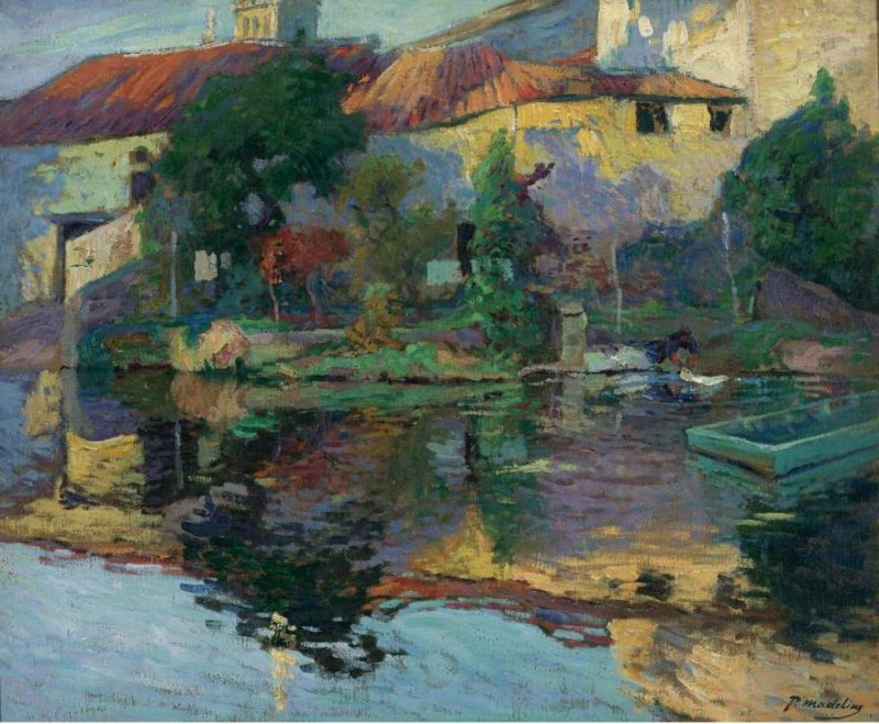 The House at Saintonge by the Water | Paul Madeline | oil painting