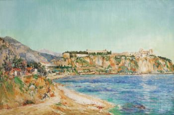 A View of Monaco 1895 | Paul Place Canton | oil painting