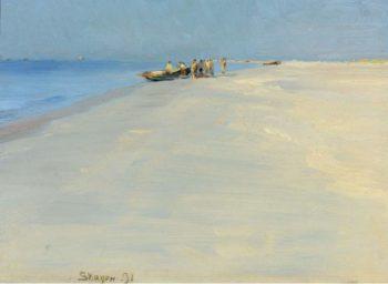 Fishermen on the Beach at Skagen 1891 | Peder Severin Kroyer | oil painting
