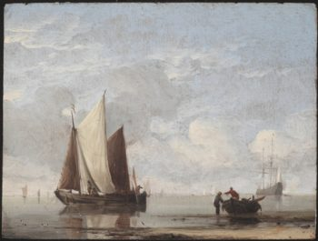 Calm Sea | Simon de Vlieger | oil painting