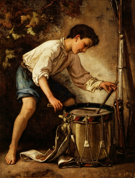 Drummer Boy   Thomas Couture   oil painting