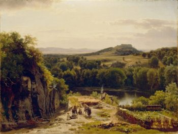 Landscape In The Harz Mountains | Thomas Worthington Whittredge | oil painting