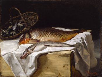 Still Life With Fish | Vilhelm Hammershoi | oil painting