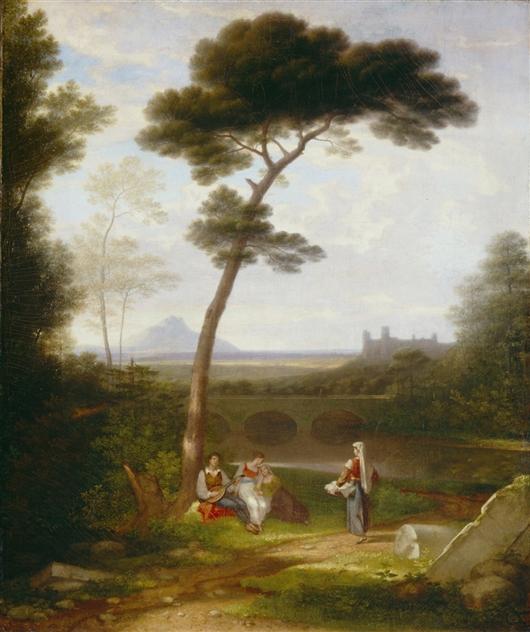 Italian Landscape   Washington Allston   oil painting