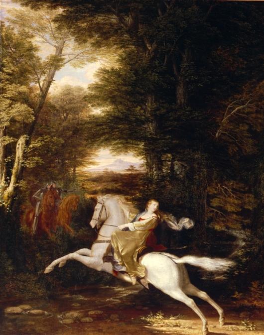 The Flight Of Florimell | Washington Allston | oil painting