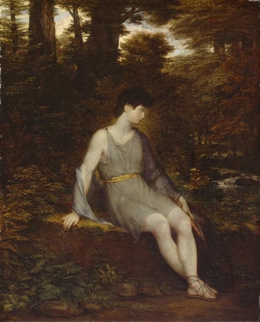 Italian Shepherd Boy | Washington Allston | oil painting