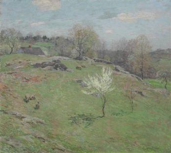 Unfolding Buds | Willard Leroy Metcalf | oil painting