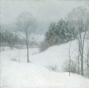 The White Veil | Willard Leroy Metcalf | oil painting
