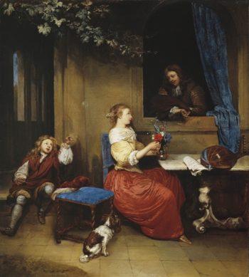 Courtship | William Hamilton | oil painting