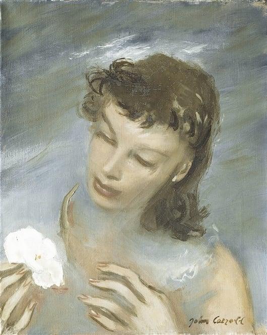 White Flower   William Merritt Chase   oil painting