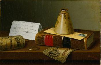 American Exchange | William Michael Harnett | oil painting