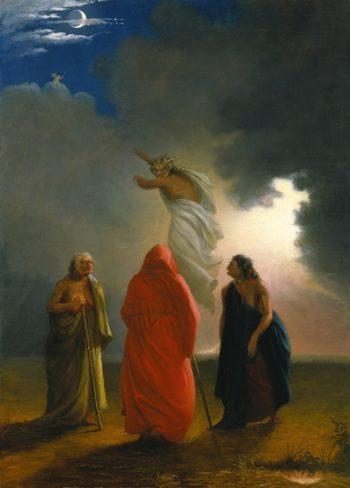 Scene From Macbeth | William S. Rimmer | oil painting