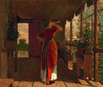The Dinner Horn | Winslow Homer | oil painting