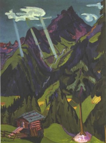 Landscape with Sunbeams | Ernst Ludwig Kirchner | oil painting