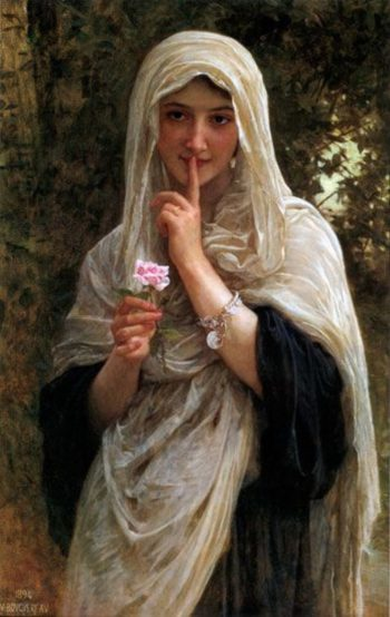 The Secret (other version) | William Bouguereau | oil painting