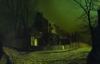 Yew Court Salby | John Atkinson Grimshaw | oil painting