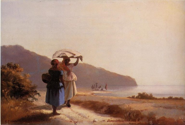 Two Woman Chatting by the Sea