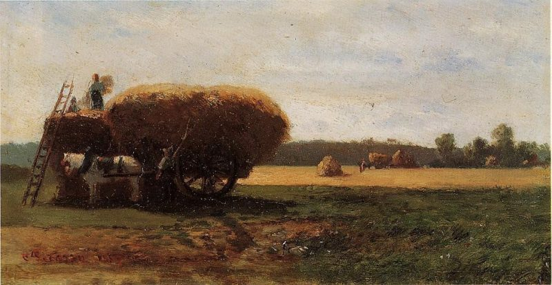 The Harvest 1857 | Camille Pissarro | oil painting