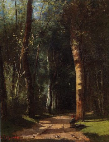 In the Woods 1859 | Camille Pissarro | oil painting