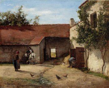 Farmyard 1863 | Camille Pissarro | oil painting