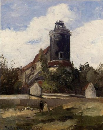 The Telegraph Tower at Montmartre 1863 | Camille Pissarro | oil painting
