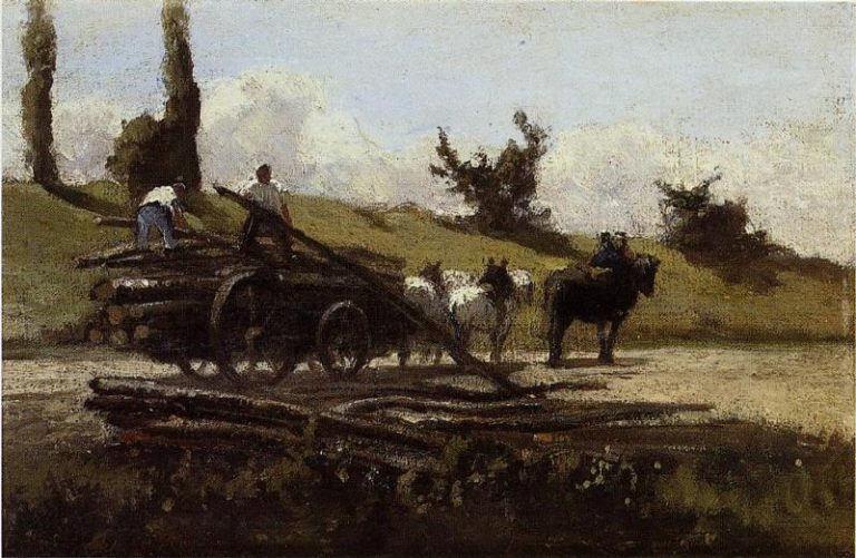 The Wood Cart 1863 | Camille Pissarro | oil painting