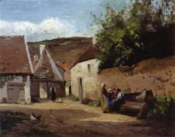 Village Corner 1863 | Camille Pissarro | oil painting