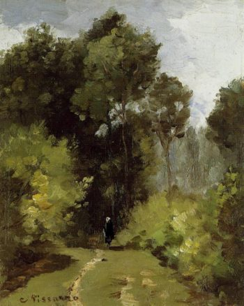 In the Woods 1864 | Camille Pissarro | oil painting