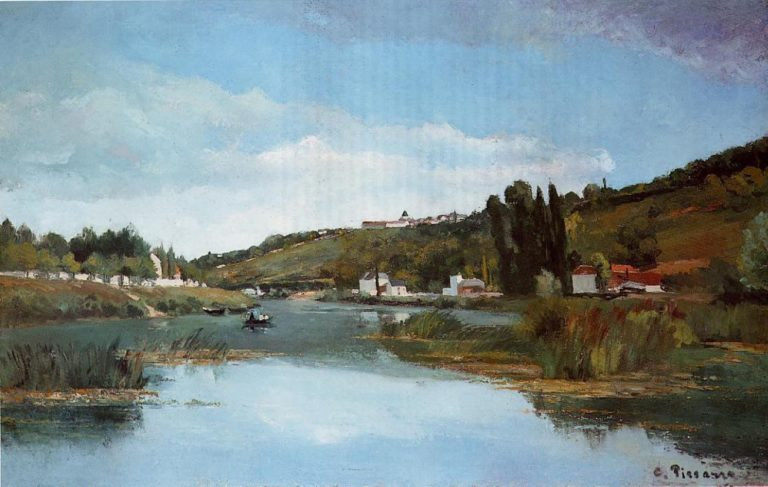 The Marne at Chennevieres 1864 | Camille Pissarro | oil painting
