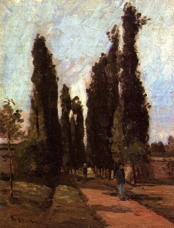 The Road 1864 | Camille Pissarro | oil painting