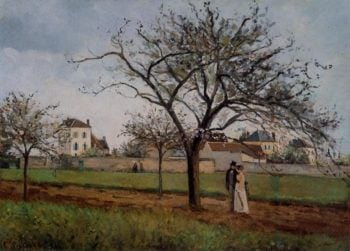 Pere Gallien's House at Pontoise 1866 | Camille Pissarro | oil painting