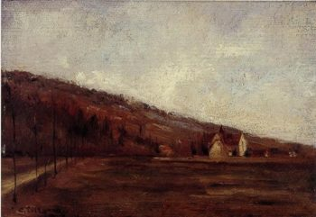 Study for The Banks of Marne in Winter 1866 | Camille Pissarro | oil painting