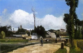 Landscape with Factory 1867 | Camille Pissarro | oil painting