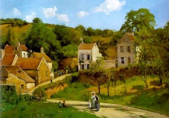 L'Hermitage at Pontoise 1867 | Camille Pissarro | oil painting