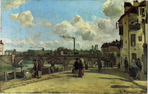 View of Pontoise: Quai au Pothuis 1868 | Camille Pissarro | oil painting