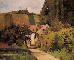 Village Church 1868 | Camille Pissarro | oil painting