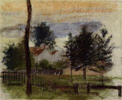 Landscape at Louveciennes 1869 | Camille Pissarro | oil painting