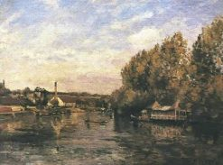 The froggybog at Bougival | Camille Pissarro | oil painting