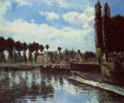 The Lock at Pontoise 1869 | Camille Pissarro | oil painting