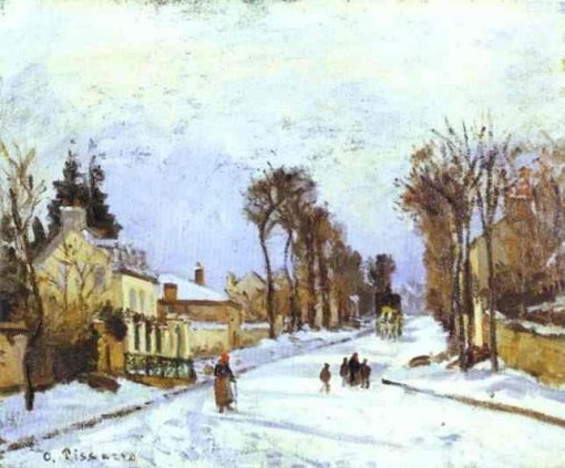 The Versailles Road at Louveciennes 1869 | Camille Pissarro | oil painting