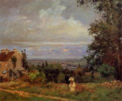 Landscape near Louveciennes 1870 | Camille Pissarro | oil painting