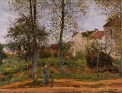 Landscape near Louveciennes 2 1870 | Camille Pissarro | oil painting