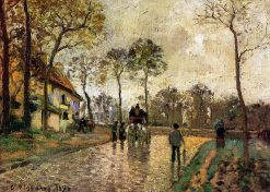 Stagecoach to Louveciennes 1870 | Camille Pissarro | oil painting