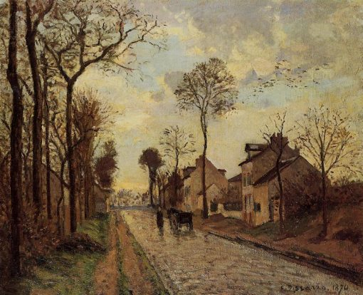 The Louveciennes Road 1870 | Camille Pissarro | oil painting