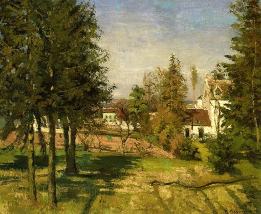 The Pine Trees of Louveciennes 1870 | Camille Pissarro | oil painting